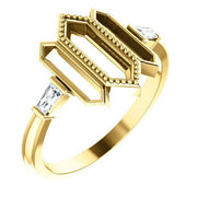 Giacobbe & Company 14k Yellow Gold 14K White, Yellow, or Rose Gold 1/8 CTW Diamond Geometric Ring