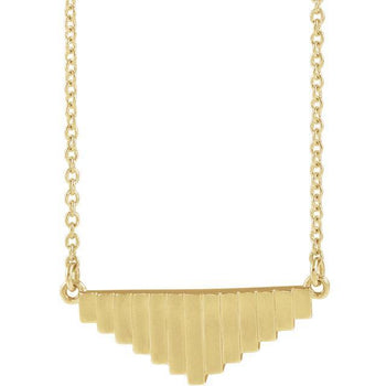 "Giacobbe & Company 14k Yellow Gold 14K White, Yellow, or Rose Gold 16"" Geometric Necklace"