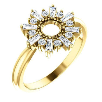 Giacobbe & Company 14k Yellow Gold 14K White, Yellow, or Rose Gold 3/8 CTW Diamond Circle Ring