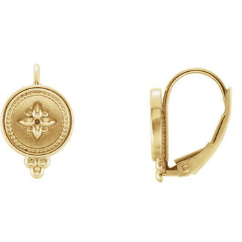 Giacobbe & Company 14k Yellow Gold 14K White, Yellow, or Rose Gold Beaded Lever Back Earrings
