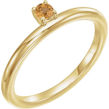 Giacobbe & Company 14k Yellow Gold 14K White, Yellow, or Rose Gold Citrine Stackable Ring