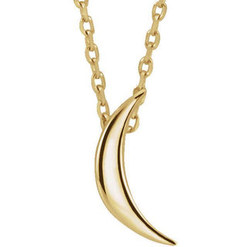 "Giacobbe & Company 14k Yellow Gold 14K White, Yellow, or Rose Gold Crescent 16-18"" Necklace"