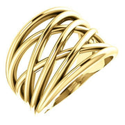 Giacobbe & Company 14k Yellow Gold 14K White, Yellow, or Rose Gold Criss-Cross Ring