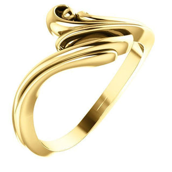 Giacobbe & Company 14k Yellow Gold 14K White, Yellow, or Rose Gold Freeform Bypass Ring