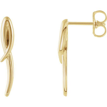 Giacobbe & Company 14k Yellow Gold 14K White, Yellow, or Rose Gold Freeform Drop Earrings