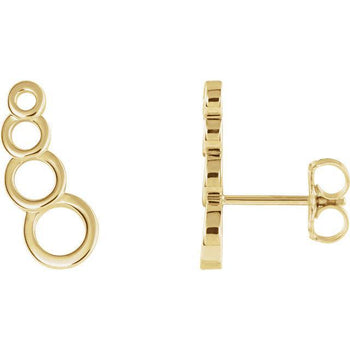 Giacobbe & Company 14k Yellow Gold 14K White, Yellow, or Rose Gold Geometric Ear Climbers