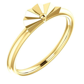 Giacobbe & Company 14k Yellow Gold 14K White, Yellow, or Rose Gold Geometric Stackable Ring