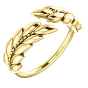 Giacobbe & Company 14k Yellow Gold 14K White, Yellow, or Rose Gold Leaf Negative Space Ring