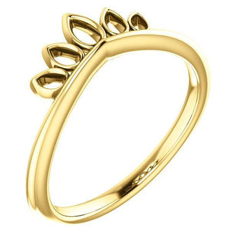Giacobbe & Company 14k Yellow Gold 14K White, Yellow, or Rose Gold Marquise-Shaped Crown Ring