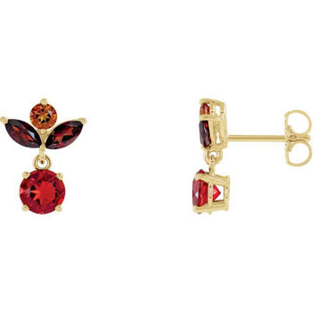 Giacobbe & Company 14k Yellow Gold 14K White, Yellow, or Rose Gold Multi-Gemstone Earrings