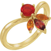 Giacobbe & Company 14k Yellow Gold 14K White, Yellow, or Rose Gold Multi-Gemstone Ring