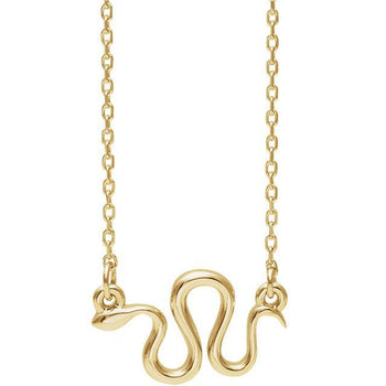 "Giacobbe & Company 14k Yellow Gold 14K White, Yellow, or Rose Gold Snake 16""-18"" Necklace"