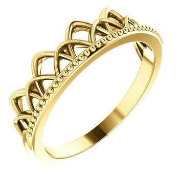 Giacobbe & Company 14k Yellow Gold 14K White, Yellow, or Rose Gold Stackable Crown Ring