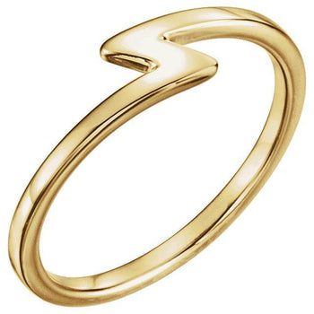 Giacobbe & Company 14k Yellow Gold 14K White, Yellow, or Rose Gold Stackable Lightning Bolt Ring