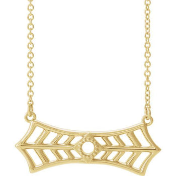 "Giacobbe & Company 14k Yellow Gold 14K White, Yellow, or Rose Gold Vintage-Inspired Bar 16"" Necklace"