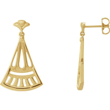 Giacobbe & Company 14k Yellow Gold 14K White, Yellow, or Rose Gold Vintage-Inspired Dangle Earrings