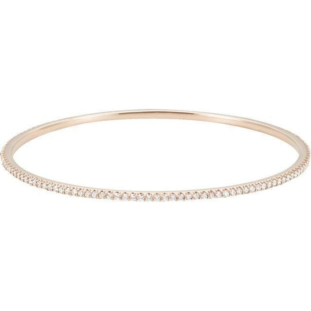 Giacobbe & Company 14kt Rose 2 CTW Diamond Stackable Bangle Bracelet