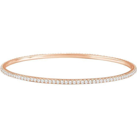 Giacobbe & Company 14kt Rose 3 CTW Diamond Stackable Bangle Bracelet
