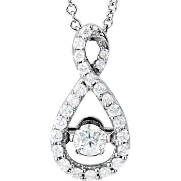 "Giacobbe & Company 14kt White 1/3 CTW Diamond 18"" Mystara® Necklace"
