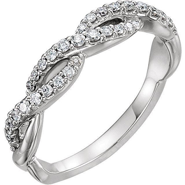 Giacobbe & Company 14kt White 1/4 CTW Diamond Infinity Anniversary Band