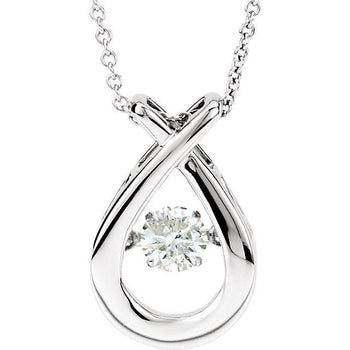 "Giacobbe & Company 14kt White 3/8 CT Diamond 18"" Mystara® Necklace"