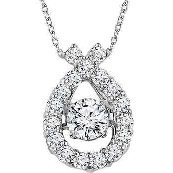 "Giacobbe & Company 14kt White 3/8 cttw Diamond 16-18"" Mystara® Necklace"