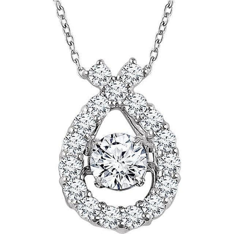 "Giacobbe & Company 14kt White 3/8 CTW Diamond 16-18"" Mystara® Necklace"