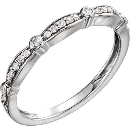 Giacobbe & Company 14kt White Gold 1/8 CTW Diamond Stackable Anniversary Band