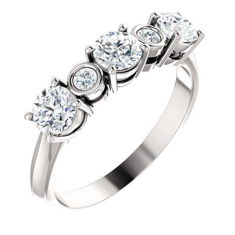 Giacobbe & Company 14kt White Gold 1 CTW Diamond Anniversary Ring