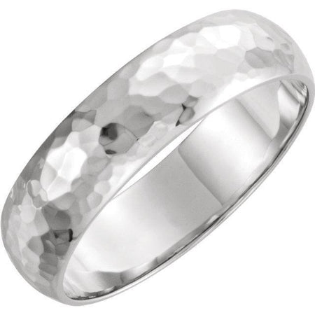 Giacobbe & Company 14kt White Or Yellow Gold 4-6mm Half Round Hammer Finish Band