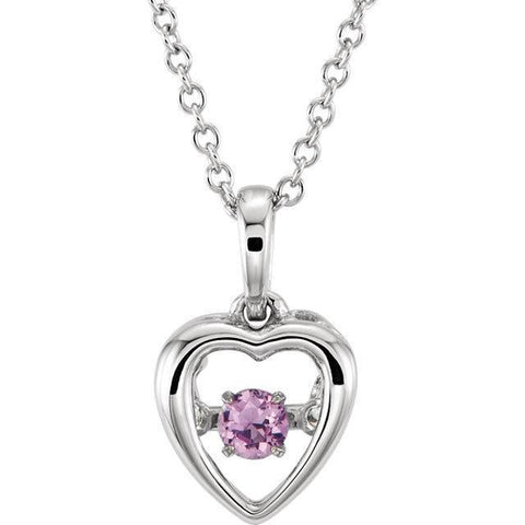 "Giacobbe & Company 14kt White Pink Sapphire 18"" Mystara® Necklace"