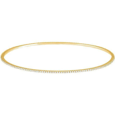 Giacobbe & Company 14kt Yellow 1 CTW Diamond Stackable Bangle Bracelet