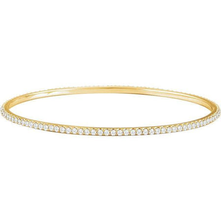 Giacobbe & Company 14kt Yellow 3 CTW Diamond Stackable Bangle Bracelet