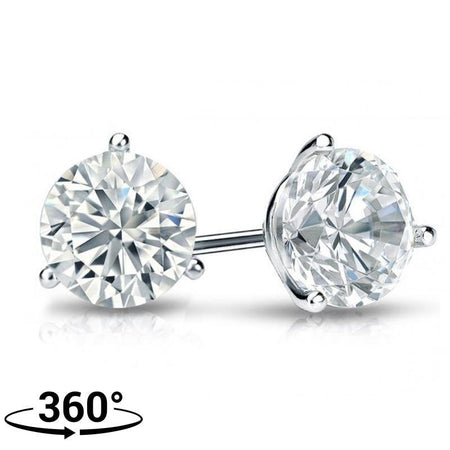Giacobbe & Company 18K WHITE GOLD ROUND 1/2 CTW VS2-SI1 G-H MARTINI DIAMOND STUD EARRINGS