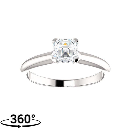 Giacobbe & Company 3/4 Carat 4 Prong Engagement Ring in 14K White Gold