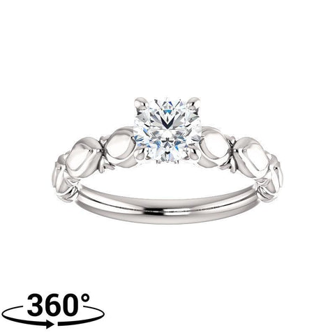 Giacobbe & Company 3/4 Carat Sculptural-Inspired Engagement Ring in 14K White Gold