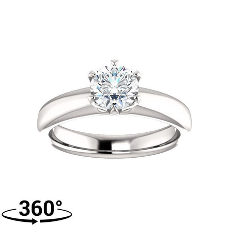 Giacobbe & Company 3/4 Carat Six Prong Solitaire Engagement Ring in 14K White Gold