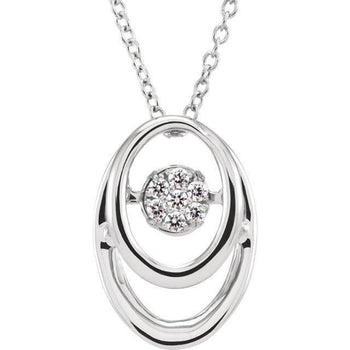 "Giacobbe & Company Sterling Silver 1/10 cttw Diamond 18"" Mystara® Necklace"