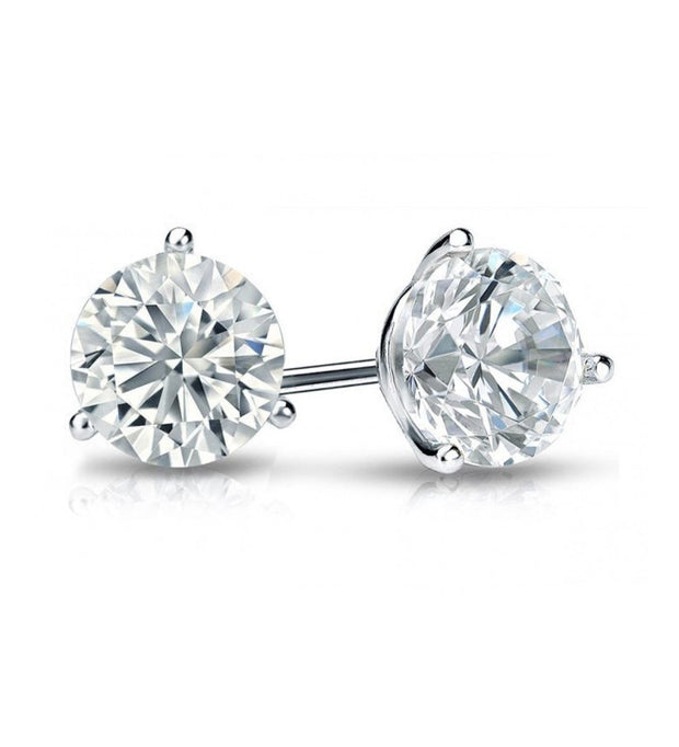 Giacobbe & Company White Gold 18K WHITE GOLD ROUND 1/2 CTW VS2-SI1 G-H MARTINI DIAMOND STUD EARRINGS