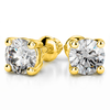 Giacobbe & Company Yellow Gold 18K WHITE GOLD ROUND 1/2CTW VS2-SI1 G-H SCREW-BACK DIAMOND STUD EARRINGS