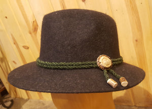 Trachten Hat with Coin, Edelweiss, Antler Piece or Antler Rosette