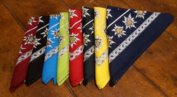 Swiss Cotton Edelweiss Scarves