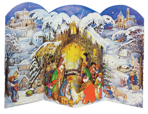 Traditional German Advent Calendars - 3D Large Nativity