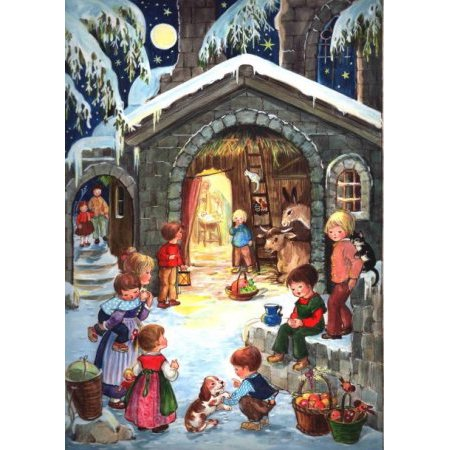 Medium Traditional German Advent Calendars - Nativity/Religious
