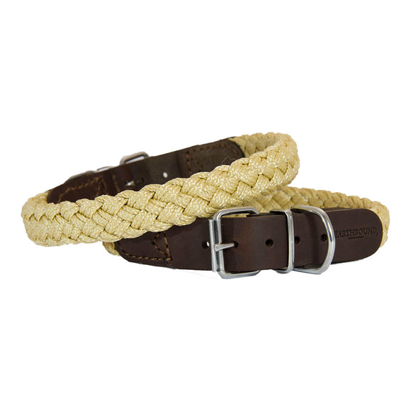 EARTHBOUND Soft Braided Nylon & Leather Collars