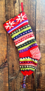 Hand Knit Old World Stockings - Holiday