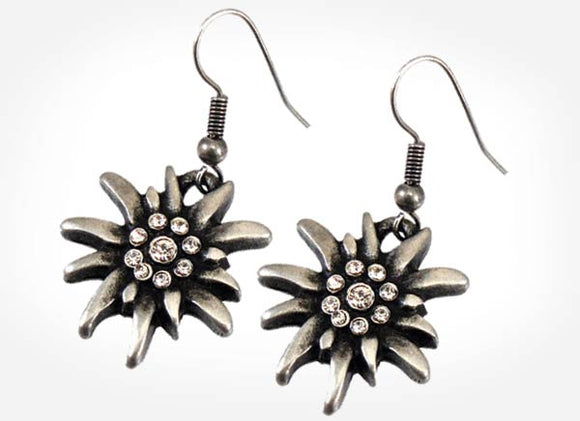 Pewter Edelweiss Earrings