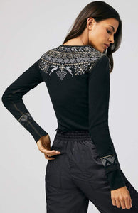 Alp N Rock Fair Isle Henley - Black
