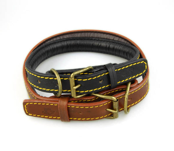 La Cinopelca Italian Padded Leather Collars
