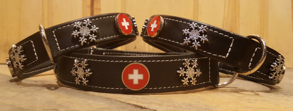 Heidi Snowflake Swiss Cross Dog Collar